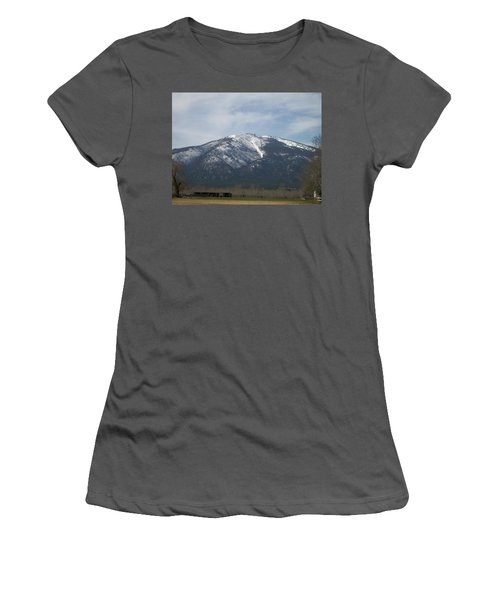 Women's T-Shirt (Junior Cut) featuring the photograph The Longshed by Jewel Hengen