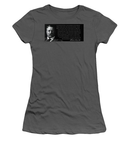 The Man In The Arena - Teddy Roosevelt 1910 Women's T-Shirt (Athletic Fit)