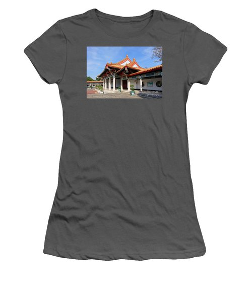 Women's T-Shirt (Athletic Fit) featuring the photograph The Martyr Shrine In Kaohsiung City by Yali Shi
