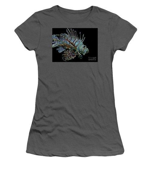 The Mighty Lion Fish Women's T-Shirt (Junior Cut) by Carol F Austin
