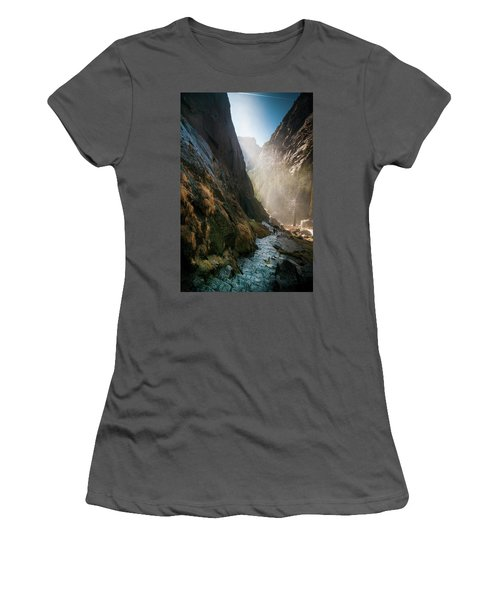 The Mist Trail Women's T-Shirt (Junior Cut) by Ralph Vazquez