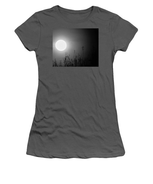 The Moon And The Stars Women's T-Shirt (Junior Cut) by John Glass