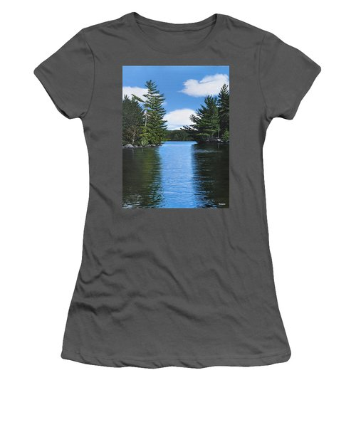 The Narrows Of Muskoka Women's T-Shirt (Junior Cut) by Kenneth M  Kirsch