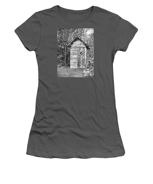 The Outhouse Bw Women's T-Shirt (Athletic Fit)