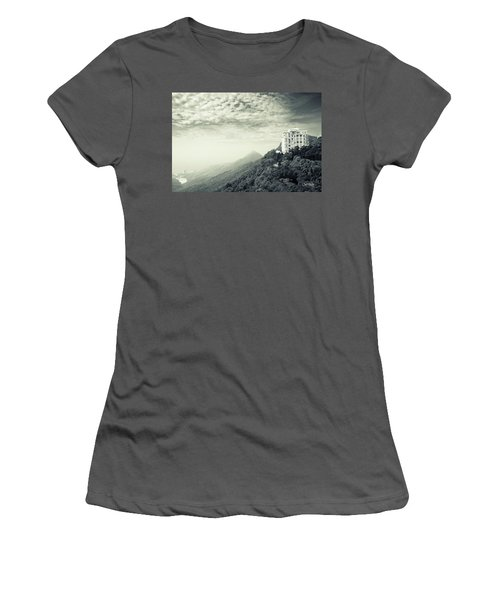Women's T-Shirt (Athletic Fit) featuring the photograph The Peak by Joseph Westrupp