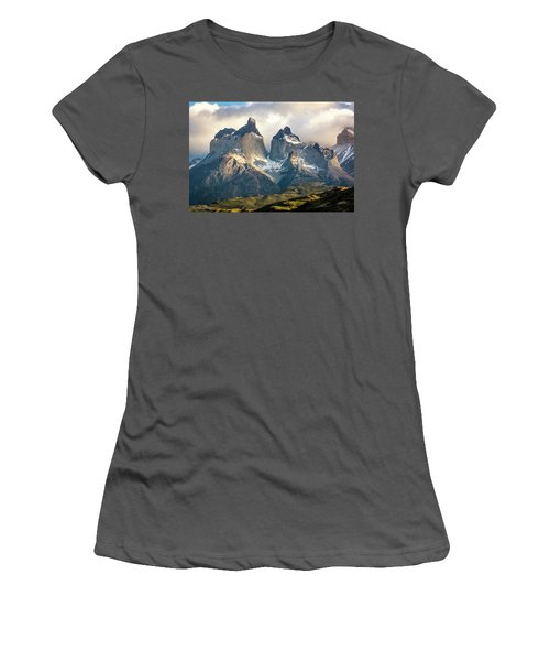 The Peaks At Sunrise Women's T-Shirt (Junior Cut) by Andrew Matwijec