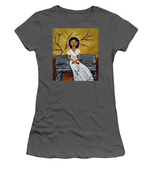 The Power Of The Rosary Religious Art By Saribelle Women's T-Shirt (Junior Cut) by Saribelle Rodriguez