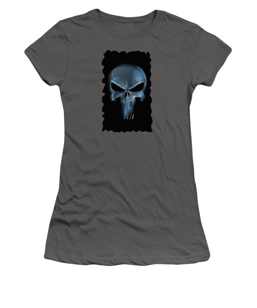 The Punisher Scary Face Women's T-Shirt (Athletic Fit)