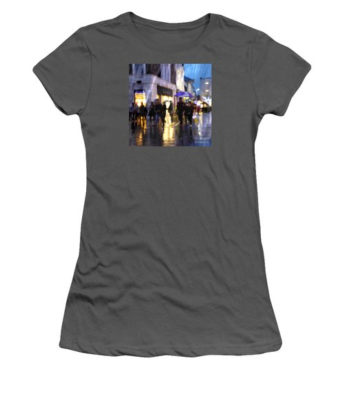 Women's T-Shirt (Athletic Fit) featuring the photograph The Purple Umbrella by LemonArt Photography