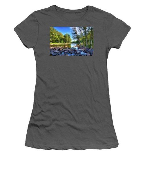 The Raquette River Women's T-Shirt (Junior Cut) by David Patterson