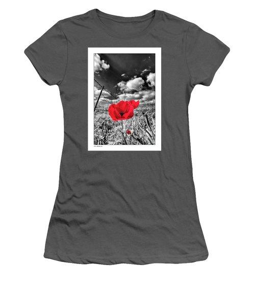 The Red Spot Women's T-Shirt (Junior Cut) by Arik Baltinester
