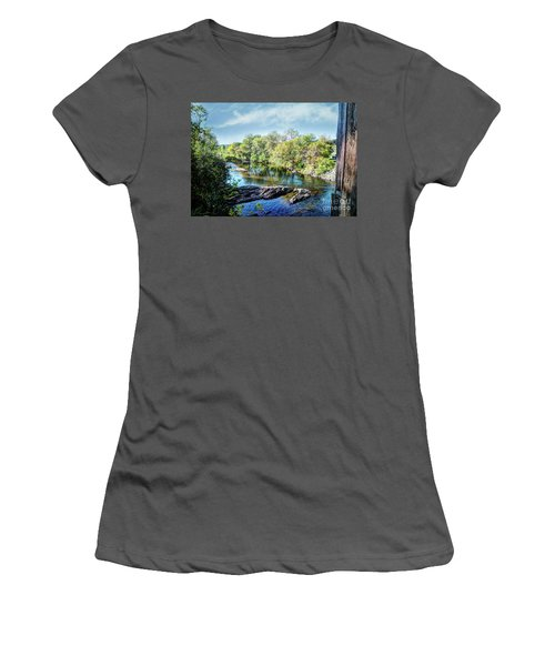 The River Below  Women's T-Shirt (Athletic Fit)