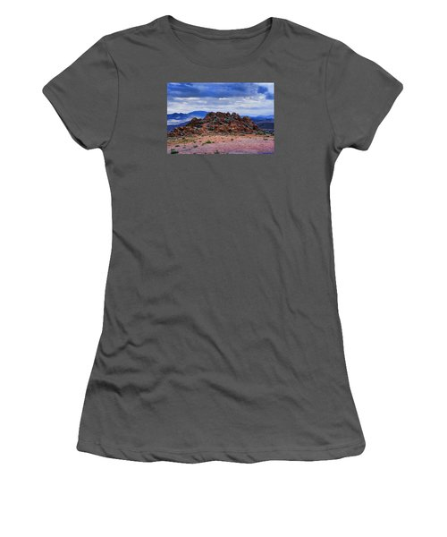 Women's T-Shirt (Junior Cut) featuring the photograph The Rock Stops Here by B Wayne Mullins