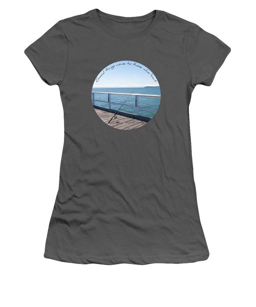 Women's T-Shirt (Junior Cut) featuring the photograph The Rod by Linda Lees