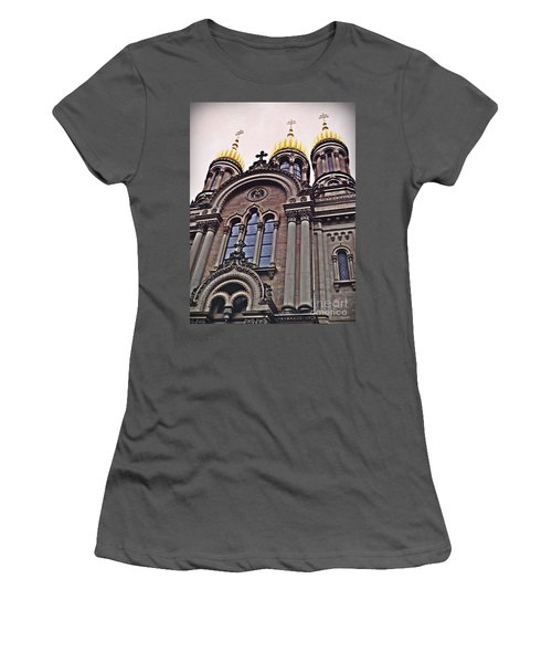 The Russian Church In Wiesbaden 2 Women's T-Shirt (Junior Cut) by Sarah Loft