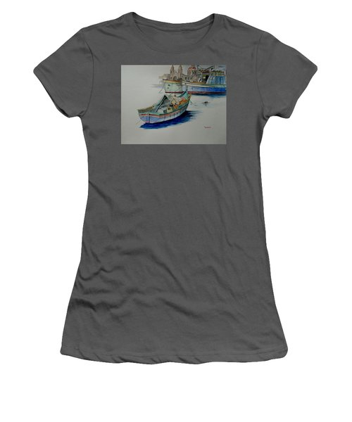 Women's T-Shirt (Junior Cut) featuring the painting The San George by Ray Agius