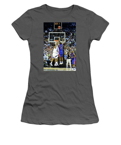 The Shot, 3.1 Seconds, Mario Chalmers Magic, Kansas Basketball 2008 Ncaa Championship Women's T-Shirt (Athletic Fit)