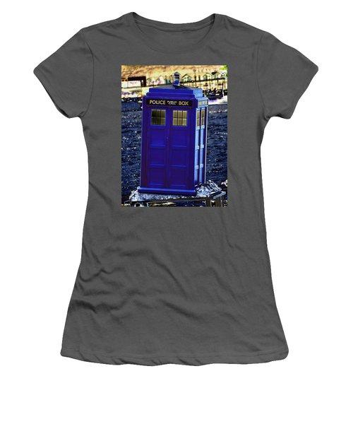 The Tardis Women's T-Shirt (Athletic Fit)