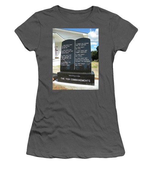 The Ten Commandments Women's T-Shirt (Athletic Fit)