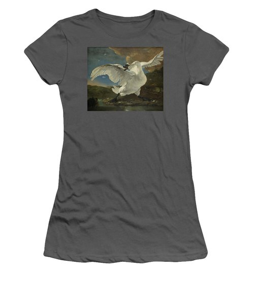 The Threatened Swan, 1650 Women's T-Shirt (Athletic Fit)
