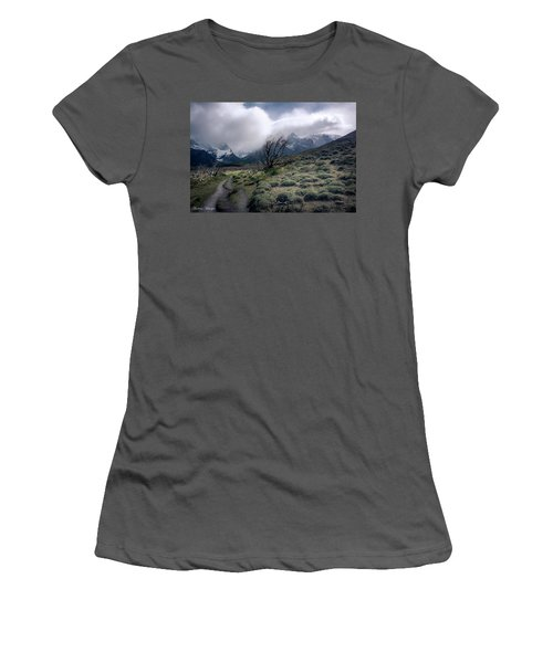 The Tree In The Wind Women's T-Shirt (Junior Cut) by Andrew Matwijec