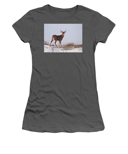 The Watchful Deer Women's T-Shirt (Athletic Fit)