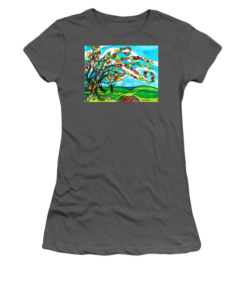The Windy Tree Women's T-Shirt (Junior Cut) by Genevieve Esson