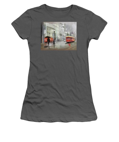 The Woman In The Rain Women's T-Shirt (Athletic Fit)