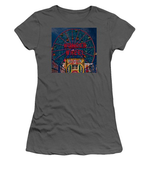 The Wonder Wheel At Luna Park Women's T-Shirt (Athletic Fit)