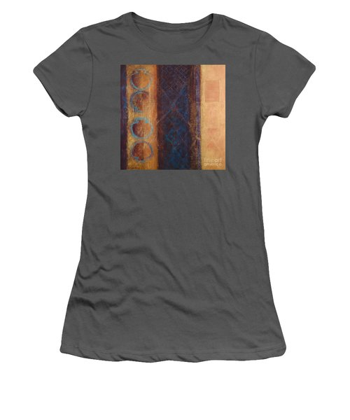 Women's T-Shirt (Junior Cut) featuring the painting The X Factor Alchemy Of Consciousness by Kerryn Madsen-Pietsch