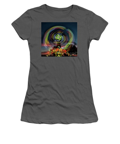 The Zipper Motion Art By Kaylyn Franks Women's T-Shirt (Athletic Fit)