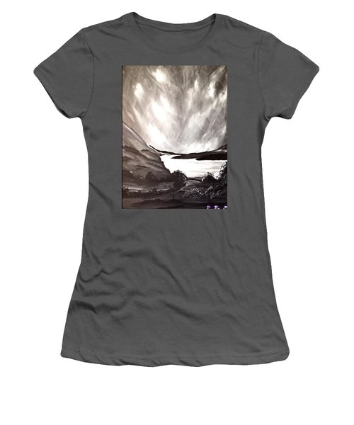 Women's T-Shirt (Junior Cut) featuring the painting Thistle Do Nicely by Scott Wilmot