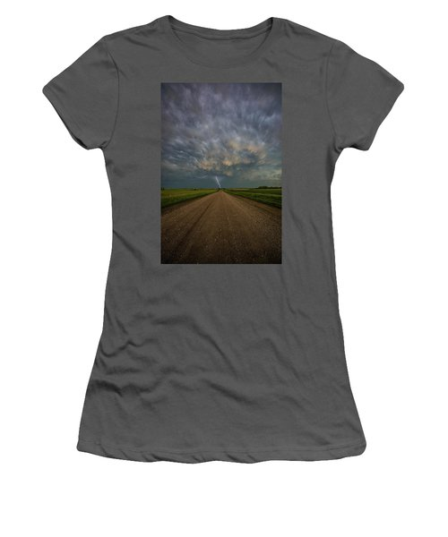 Women's T-Shirt (Athletic Fit) featuring the photograph Thor's Chariot  by Aaron J Groen