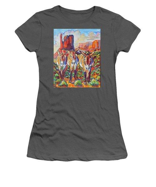Three Amigos  Women's T-Shirt (Junior Cut) by Jenn Cunningham