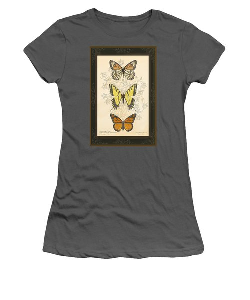 Three Butterflies Women's T-Shirt (Junior Cut)
