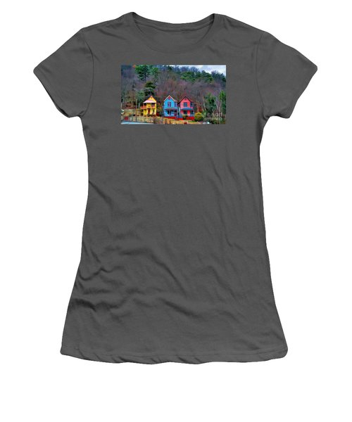 Three Houses Hot Springs Ar Women's T-Shirt (Athletic Fit)