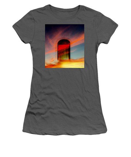 Through The Door Women's T-Shirt (Junior Cut) by Katy Breen