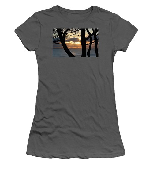 Through The Trees Women's T-Shirt (Junior Cut) by AJ Schibig