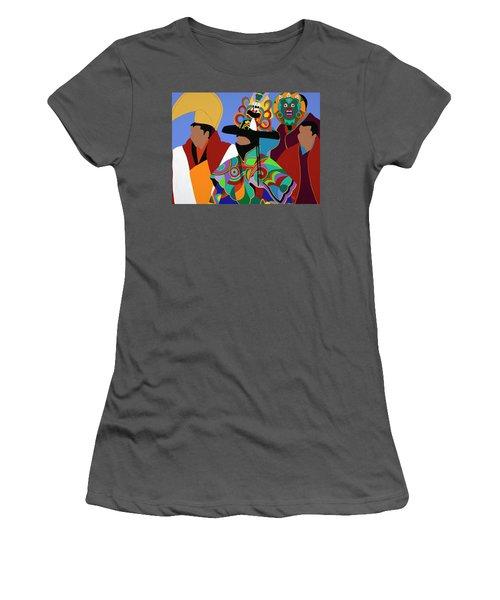 Tibetan Monks Cham Dancer Women's T-Shirt (Athletic Fit)