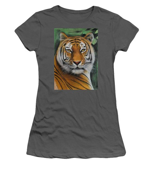Tiger - The Heart Of India Women's T-Shirt (Athletic Fit)