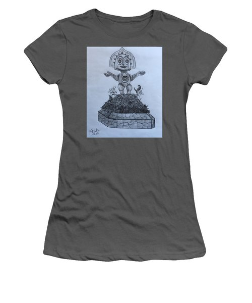 Tiki God Women's T-Shirt (Athletic Fit)