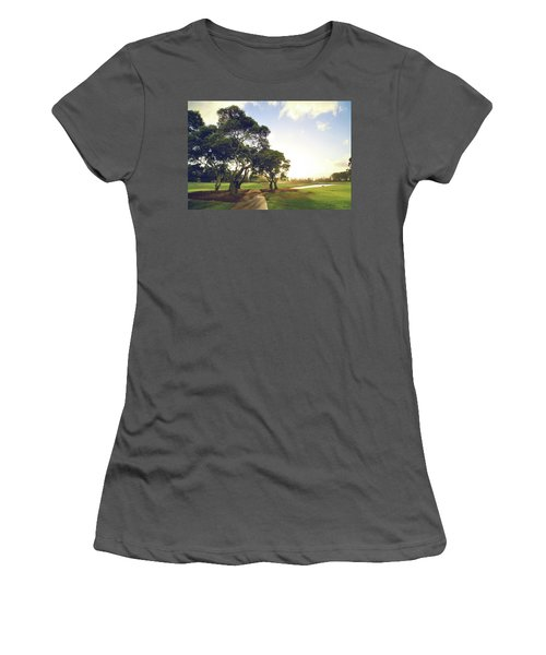Women's T-Shirt (Junior Cut) featuring the photograph 'til I'm In Your Arms Again by Laurie Search