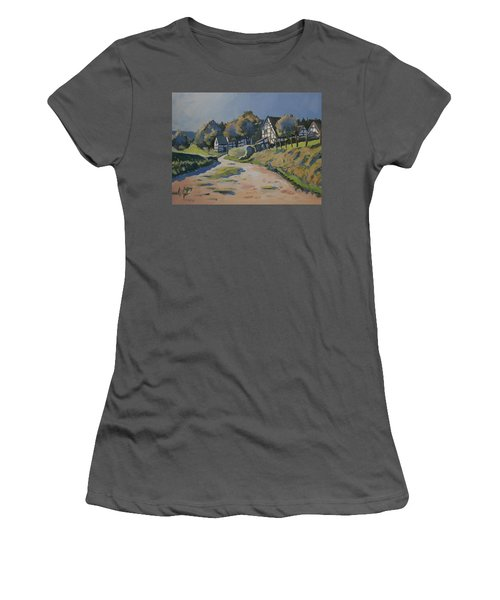 Timbered Houses In Terziet Women's T-Shirt (Athletic Fit)