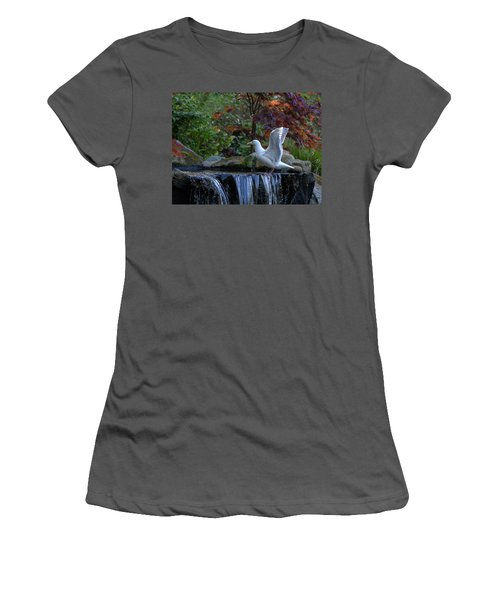 Time For A Bird Bath Women's T-Shirt (Athletic Fit)