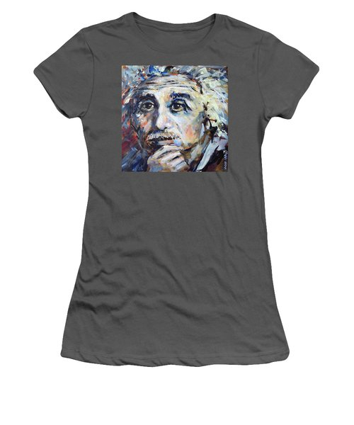 Time To Think Women's T-Shirt (Junior Cut) by Mary Schiros