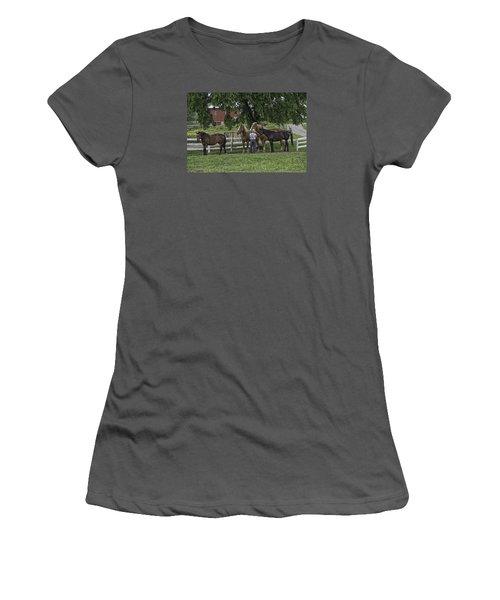 Time To Work Women's T-Shirt (Junior Cut) by Elizabeth Eldridge