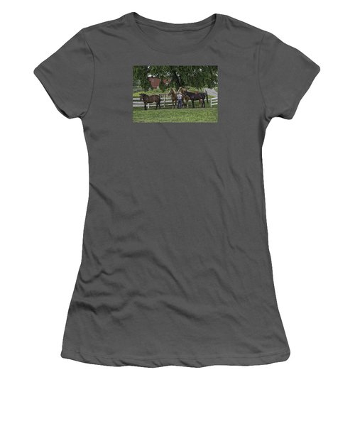 Time To Work Women's T-Shirt (Athletic Fit)