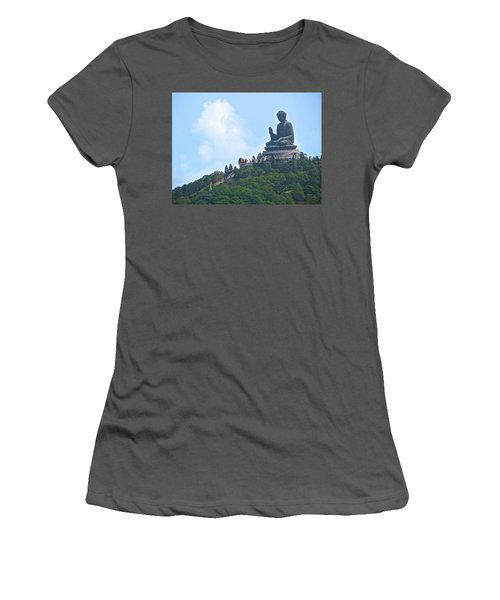 Tin Tan Buddha In Hong Kong Women's T-Shirt (Athletic Fit)