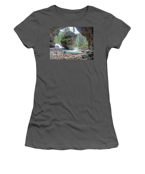 Tiny People Big World Women's T-Shirt (Athletic Fit)
