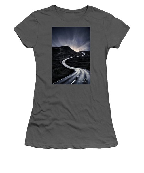 To Where The Darkness Ends Women's T-Shirt (Athletic Fit)